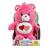 Care Bears Medium Soft Toy with DVD - Love-a-Lot Bear