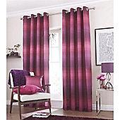Catherine Lansfield Home Graded Stripe Plum Curtains 66x90