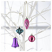 Tesco Mini Baubles Brights, 25 Pack