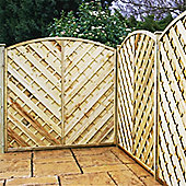 6FT Pressure Treated Curved Chevron Weave Panels - 1 Panel Only