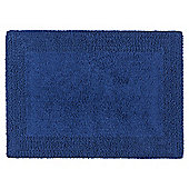 Tesco Reversible Bath Mat Navy Blue