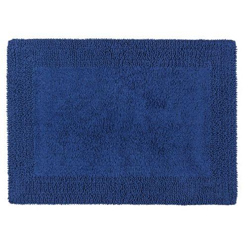 Tesco Reversible Bath Mat Navy Blue