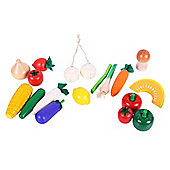 Santoys ST020 Wooden Play Food (17 Pieces) Vegetables in Net