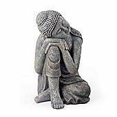 Large Stone Look Sitting Sleeping Buddha Garden Ornament