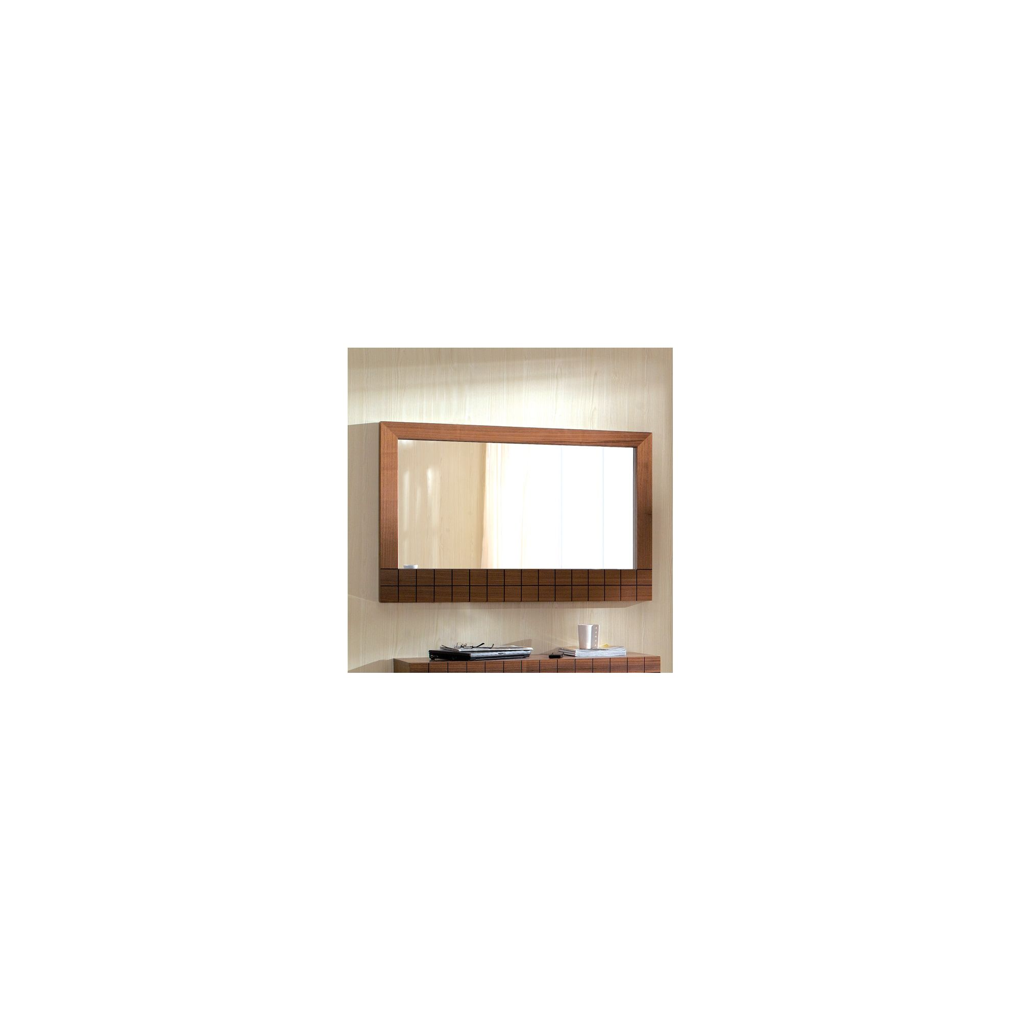 Gillmore Space Barcelona Wall Hanging Mirror - 5.5cm H x 112cm W x 73cm D - Walnut at Tescos Direct