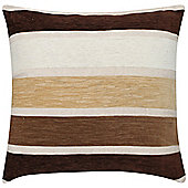 KLiving Geneva Striped Cushion Cover Brown 43x43cm(Pack of 2)