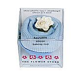 Flower Stork Fairy Cake - Sock - Baby  Blue