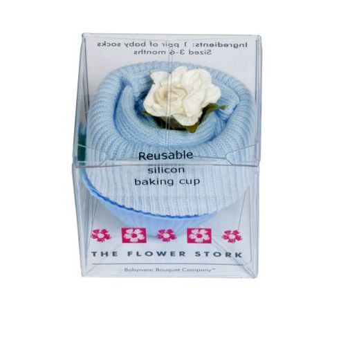 Buy Flower Stork Fairy Cake - Sock - Baby Blue from our ...