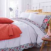 Floral Border Duvet Cover Set Double