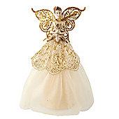 Cream & Gold Fairy Christmas Tree Topper