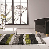 Nordic Channel Lime Green/Grey 120x170 cm Shaggy Rug