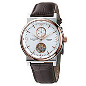 Thomas Earnshaw Providence Round Mens Leather 24 hour Watch ES-8012-04