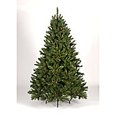7ft Douglas Pine Green with Cones, Hook-On branches with 1730 Tips