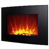 "Homegear 35"" Wall Mounted 2-In-1 Electric Fireplace With Remote Control"