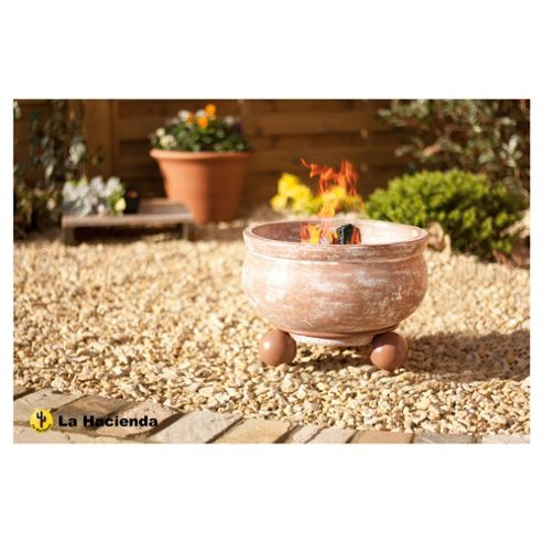 Buy La Hacienda Clay Round Fire Pit with Stand from our ...