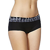 F&F Magic Tie Dye Print Waistband Bikini Shorts - Grey