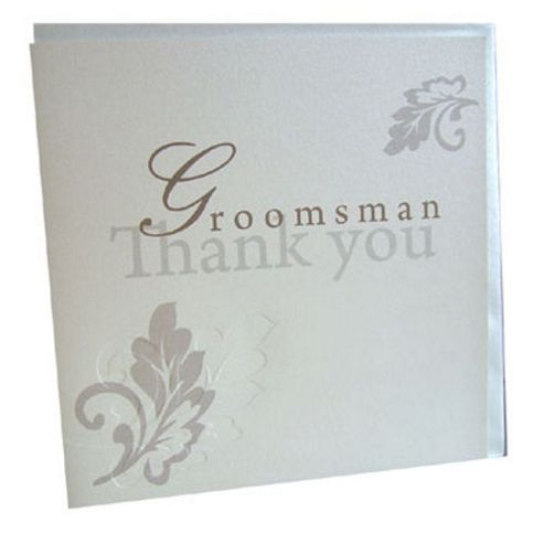 Wedding Gift List Tesco : ... Groomsman Wedding Thank You Card from our Greeting Cards rangeTesco