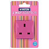 2 way - Non-fused - Adaptor - Pink (211C) - Status - 1 pk - Blister Card