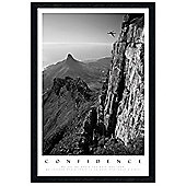 Ralph Waldo Emerson Black Wooden Framed Confidence Poster