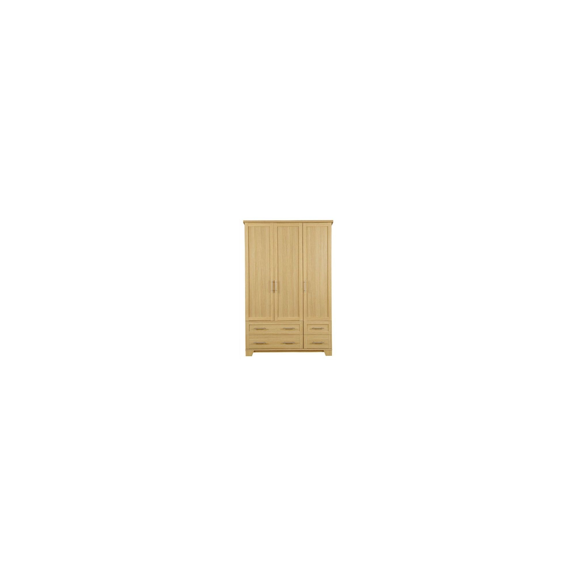 Caxton Melody 4 Drawer Wardrobe in Natural Oak at Tesco Direct