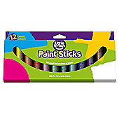Solid Poster Paint Sticks for Children to Colour-in Paper Card and Wood Crafts (Pack of 12)