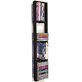Wall Mounted Cd / Dvd / Blu Ray Storage Shelf - Black/brown