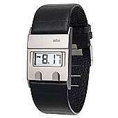 Braun Gents Leather Strap Watch BN0076SLBKG