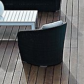 Varaschin Gardenia Relax Chair by Varaschin R and D - White - Panama Azzurro