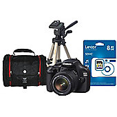 "Canon EOS 1100D Lens Kit, 12.2 MP. 2.7"" LCD, Desktop Tripod, SLR Bag and Camera Black"