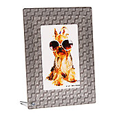 Addison Ross 3D Acrylic Photo Frame 3D Silver Wave Frame - 4 in x 6 in