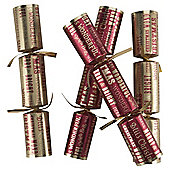 Tesco Cube Red & Gold Script Christmas Cracker, 12 Pack