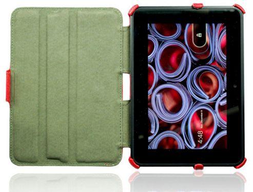 U-bop NeoORBIT Vertical Kindle Flip Case Red - For Amazon Kindle Paperwhite