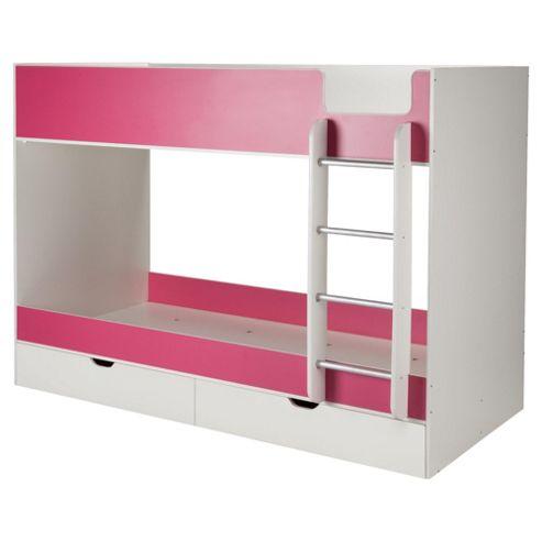 Jasper Bunk White/Pink