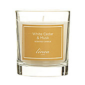 Linea Cedar & Musk Single Candle In White