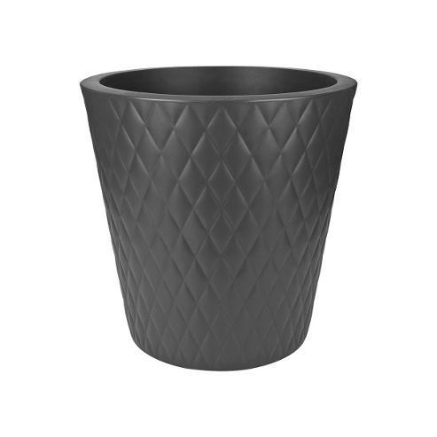 buy elho pure straight crystal planter 47cm anthracite. Black Bedroom Furniture Sets. Home Design Ideas