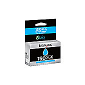 Lexmark No150XLA C High Yield Ink Cartridge Cyan 14N1642