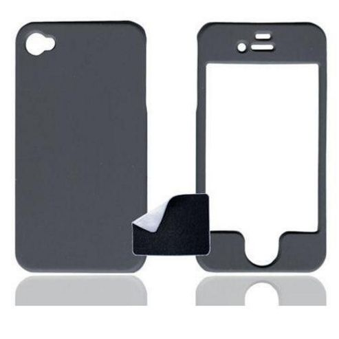U-bop ShadowSHELL Rubberised Case Charcoal Grey - For Apple iPhone 4, 4S S