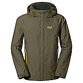 Jack Wolfskin Mens Supercell Texapore Jacket - Green