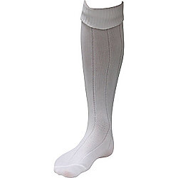 Ziland Stretch Football Socks - White Size M