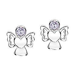 Jo For Girls June Birthstone Guardian Angel Stud Earrings