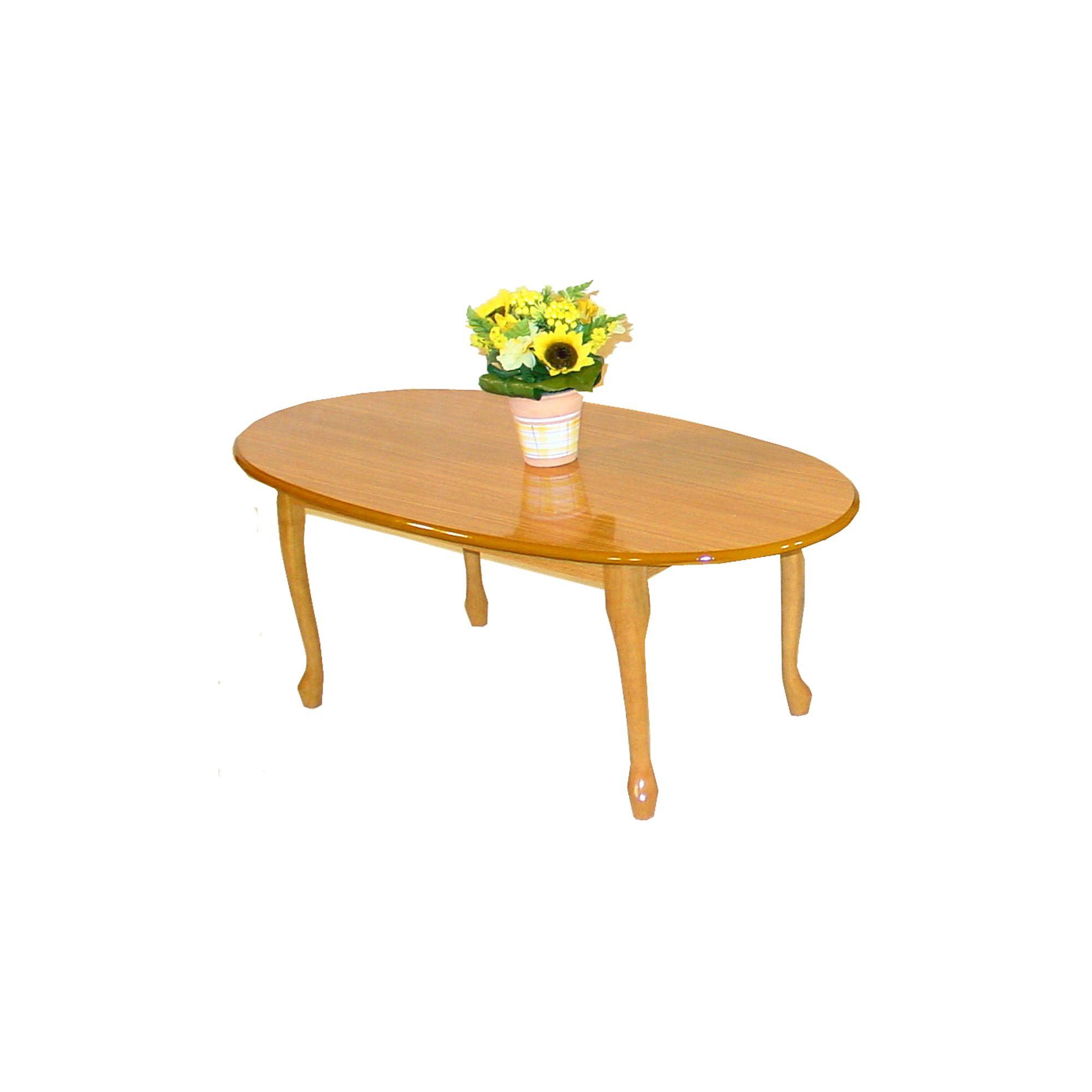 Queen Anne Golden Oak Coffee Table