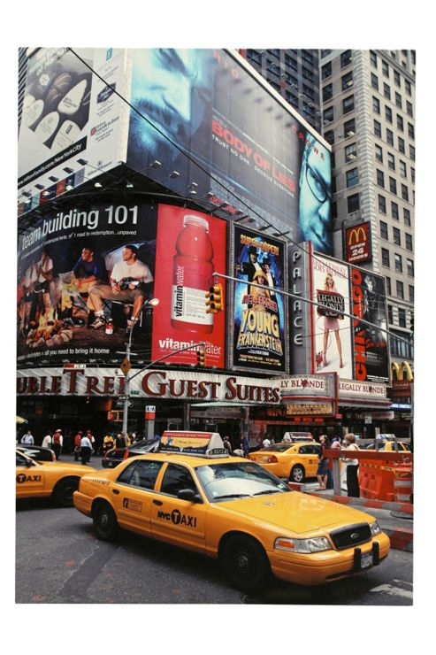 Premier Housewares New York Yellow Cab Printed Canvas Art