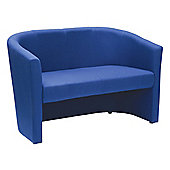 WoodstockLeaBank Encounter 2 Seater Tub Sofa - Blue Fabric