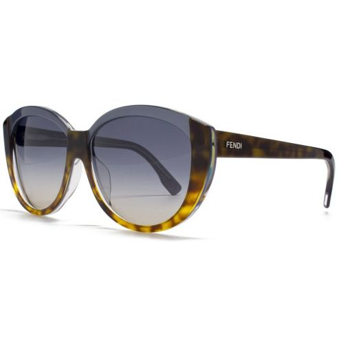 Fendi Sunglasses Two Tone Cateye in Havana and Blue.