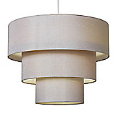 Vermont Three Tier Ceiling Pendant Light Shade in Champagne Gold