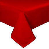 Homescapes Plain Cotton Red Tablecloth, 54 x 90 Inches