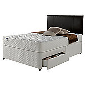 Silentnight Miracoil Comfort Micro Quilt 2 Drawer Divan, Double - King (5ft)