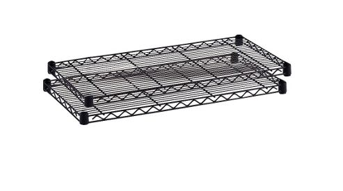 Safco Small Commercial Shelves Wire in Black
