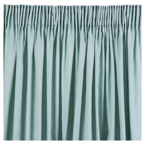 Plain Canvas Pencil Pleat Curtains W163xL229cm (64x90'') - Eau De Nil