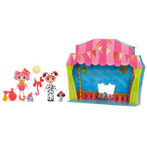 Mini Lalaloopsy Silly Funhouse Dolls - Peanut Big Top and Ember Flicker Flame